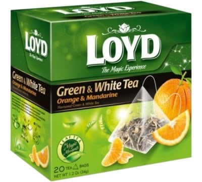 Herbata LOYD TEA Green And White tea with Orange And Mandarine 20x1.7 g