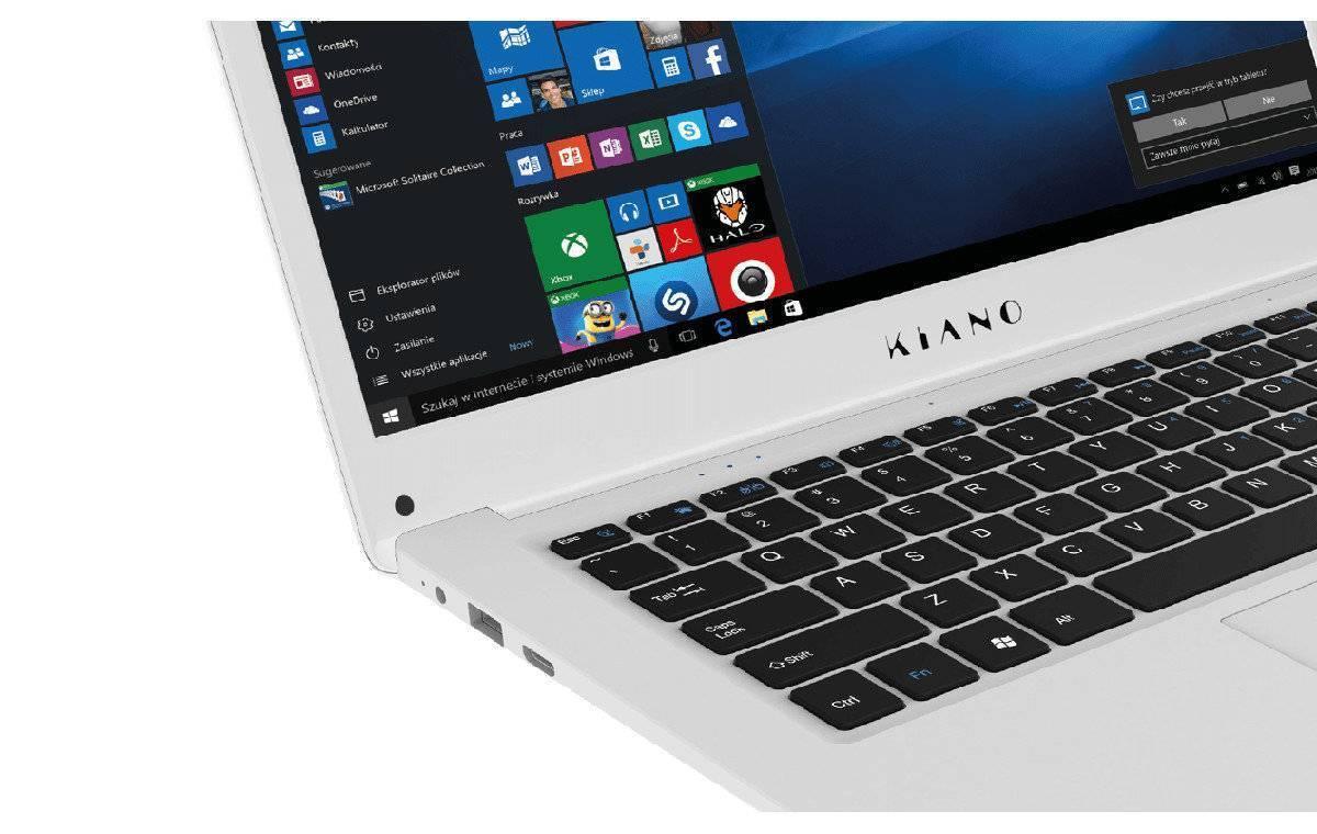 3d44944a7e7dc Laptop KIANO SlimNote 14.2+ x5-Z8350 4GB 32GB INT Win10 Srebrny ...