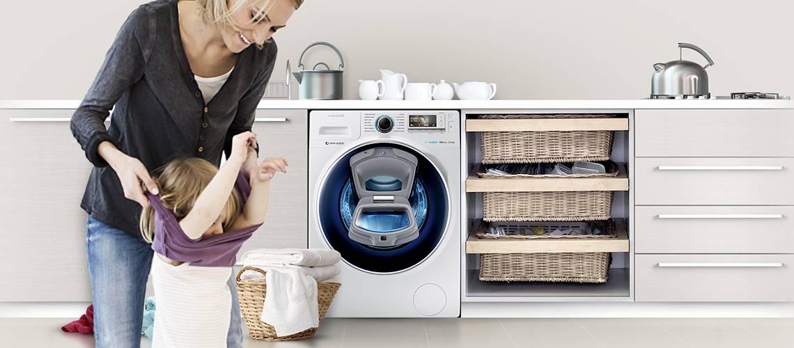 Widok kuchni z pralka