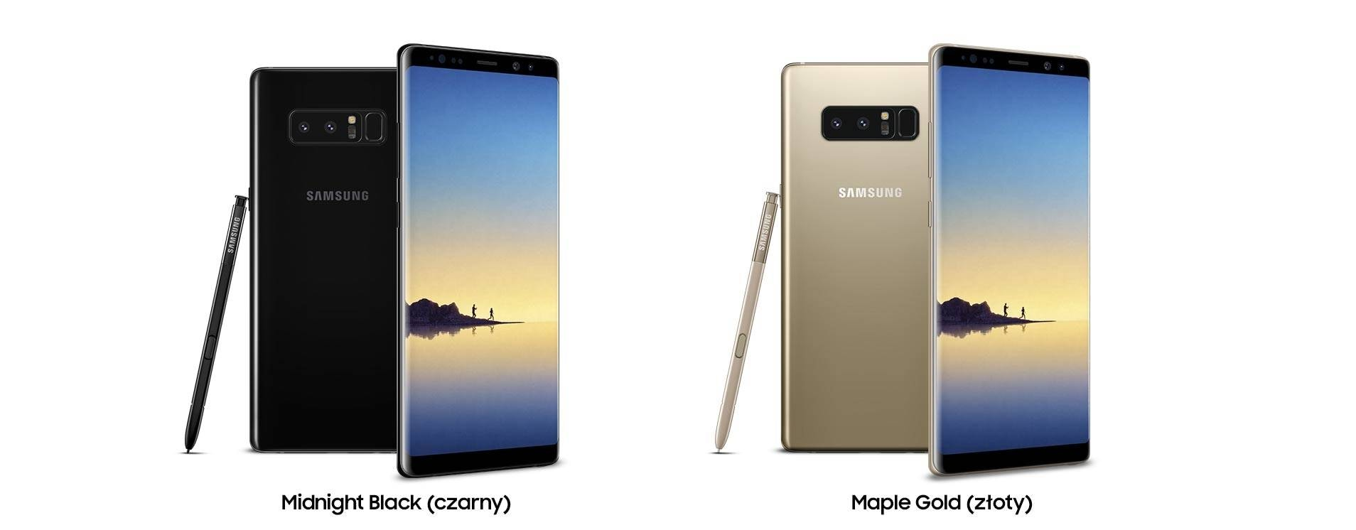 Samsung Galaxy Note8 Kolory