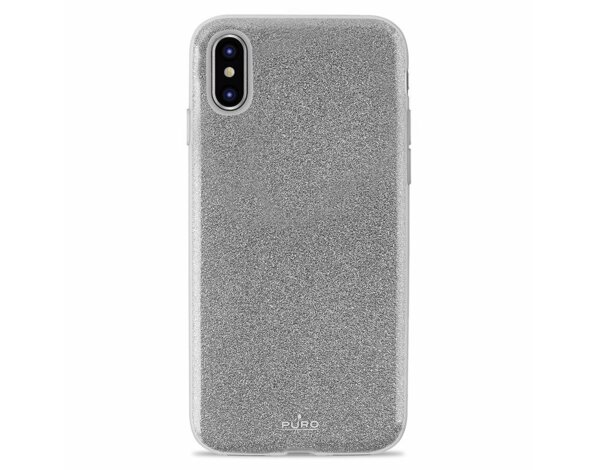 Etui PURO Glitter Shine Cover do iPhone Xs Max Srebrny