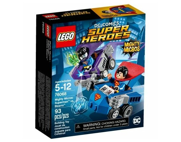 Klocki LEGO Super Heroes Mighty Micros: Superman kontra Bizarro 76068