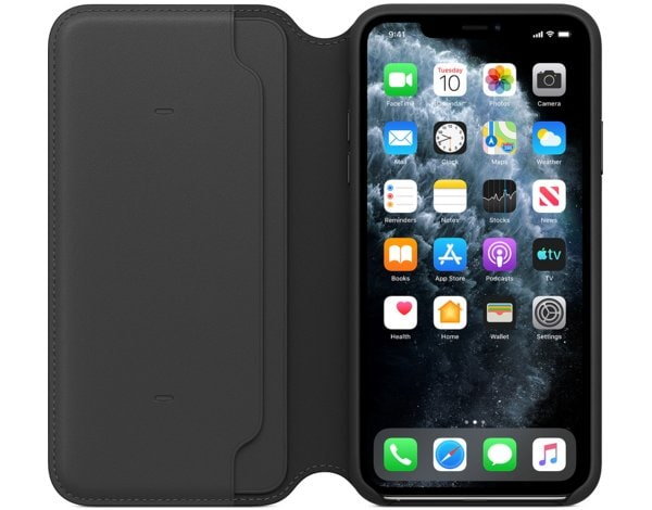 Etui APPLE Leather Folio do iPhone 11 Pro Max Czarny MX082ZM/A