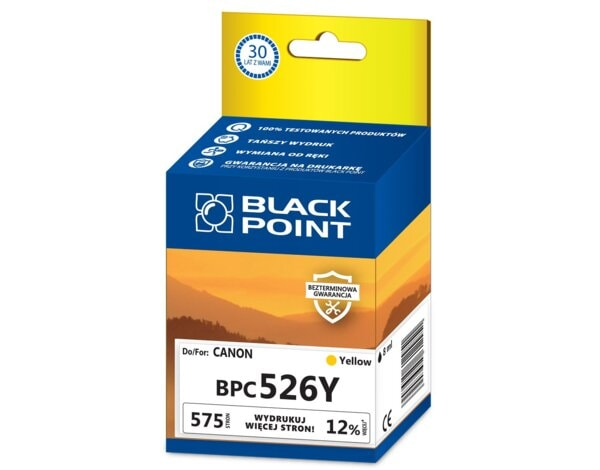 Tusz BLACK POINT BPC526Y Zamiennik Canon CLI526BY