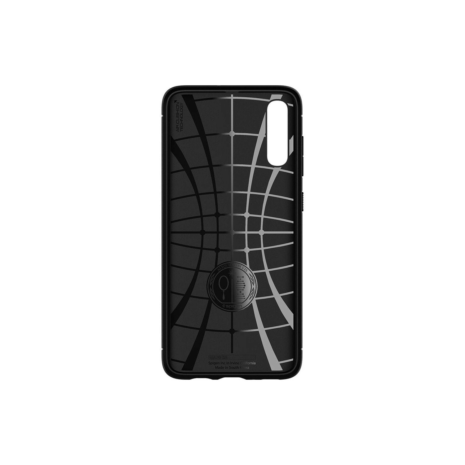 Etui SPIGEN Rugged Armor do Samsung Galaxy A70 Czarny matowy