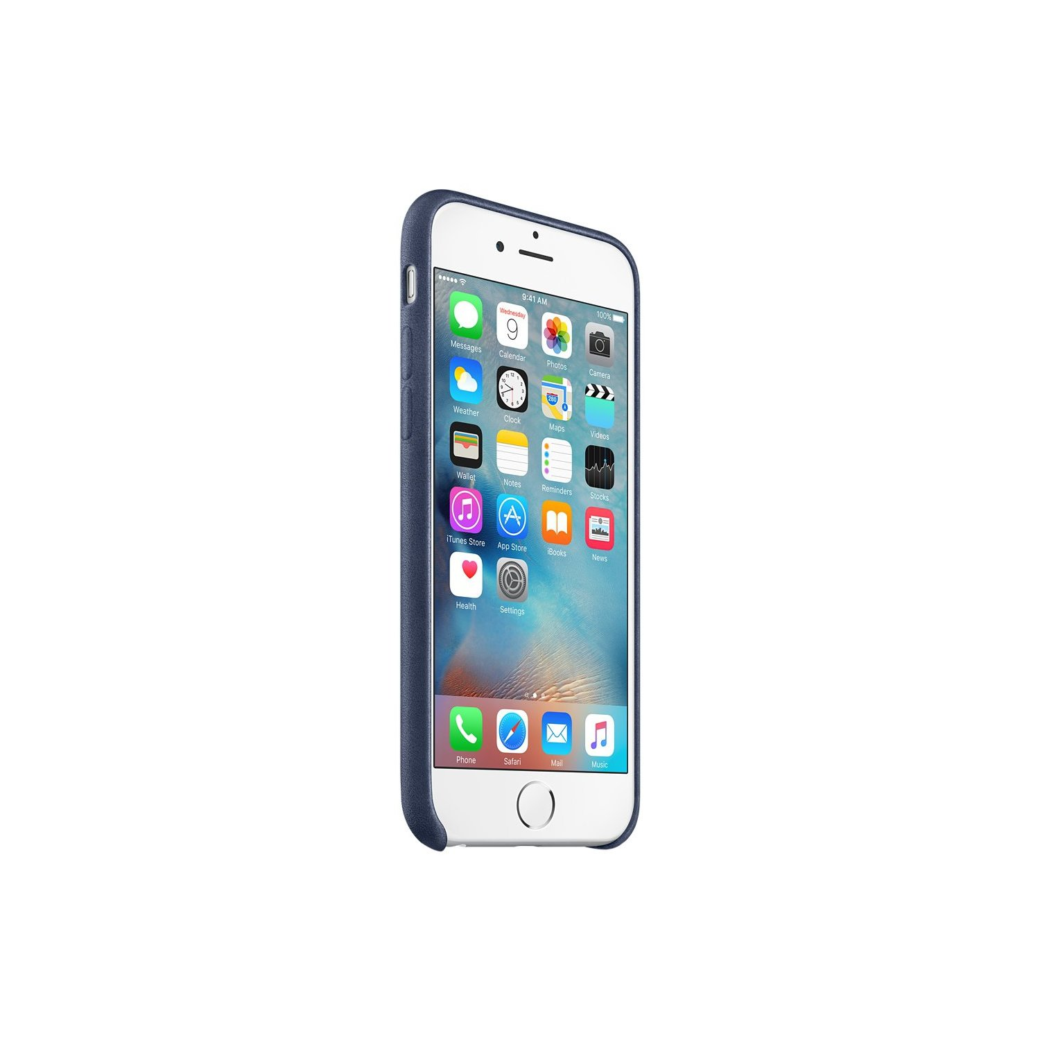 Skórzane etui APPLE do iPhone 6 Plus/6s Plus Nocny błękit MKXD2ZM/A