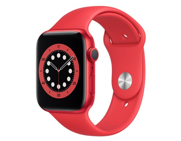 SmartWatch APPLE Watch Series 6 GPS+Cellular Koperta 44 mm z aluminium w kolorze PRODUCT(RED) z paskiem sportowym w kolorze PRODUCT(RED) M09C3WB/A