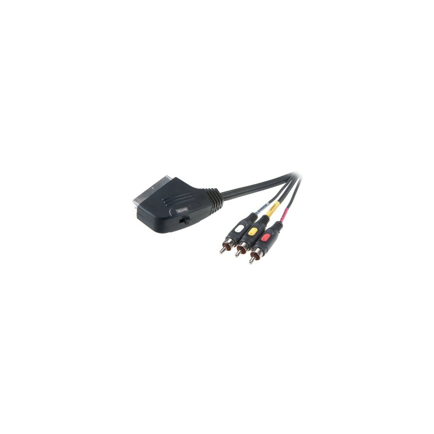 Kabel VIVANCO Scart - 3RCA (in/out) 2m