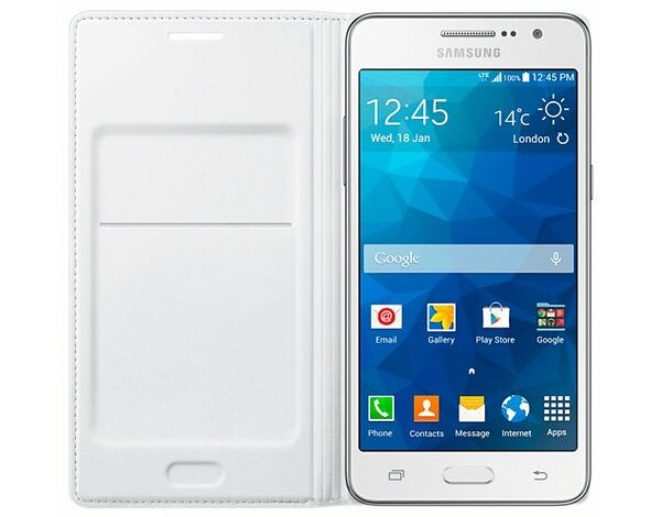 Etui SAMSUNG Flip Wallet do Galaxy Grand Prime Biały EF-WG530BWEGWW