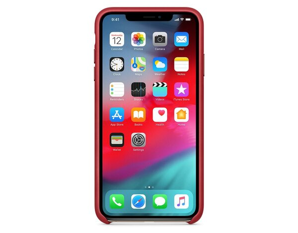 Skórzane etui APPLE iPhone XS Max (PRODUCT)RED MRWQ2ZM/A