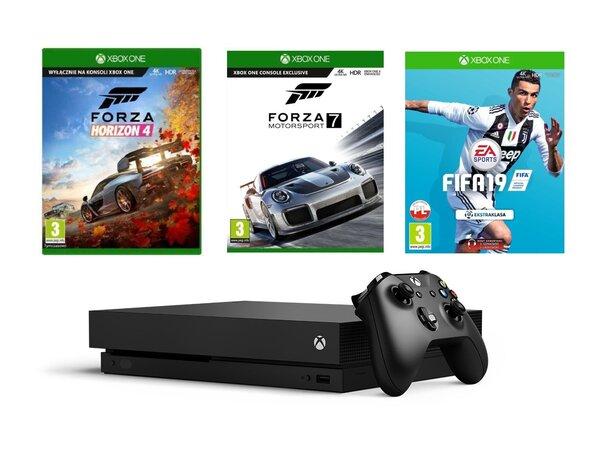 Konsola Microsoft Xbox One X Forza Horizon 4 Forza Motorsport 7