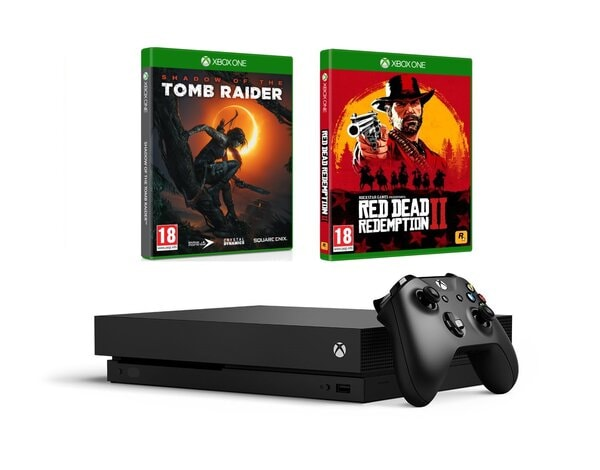 Konsola Microsoft Xbox One X Shadow Of The Tomb Raider Red Dead