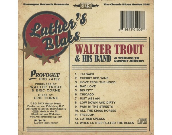 Luther's Blues-Tribute To Luther Allison