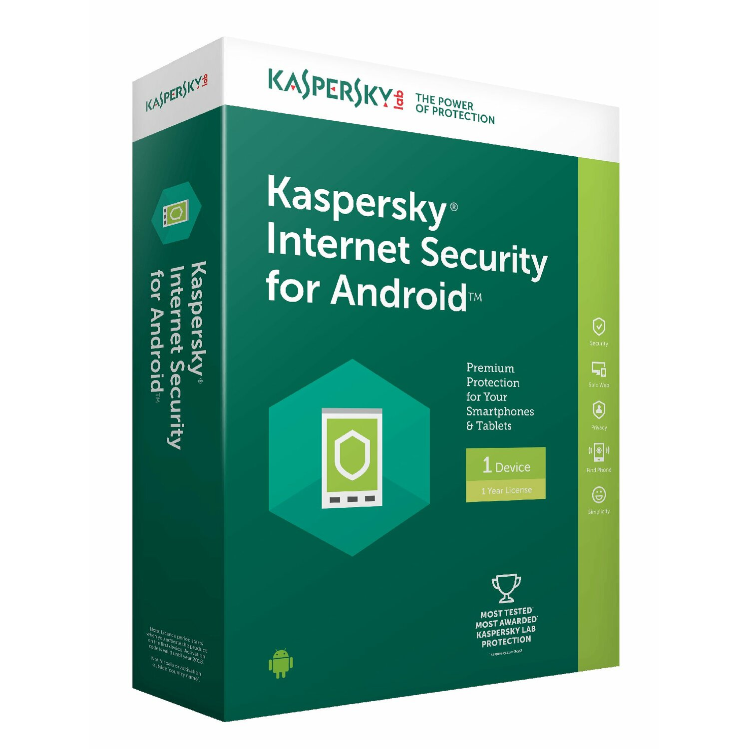 Program KASPERSKY Internet Security for Android (1 urządzenie, 1 rok)