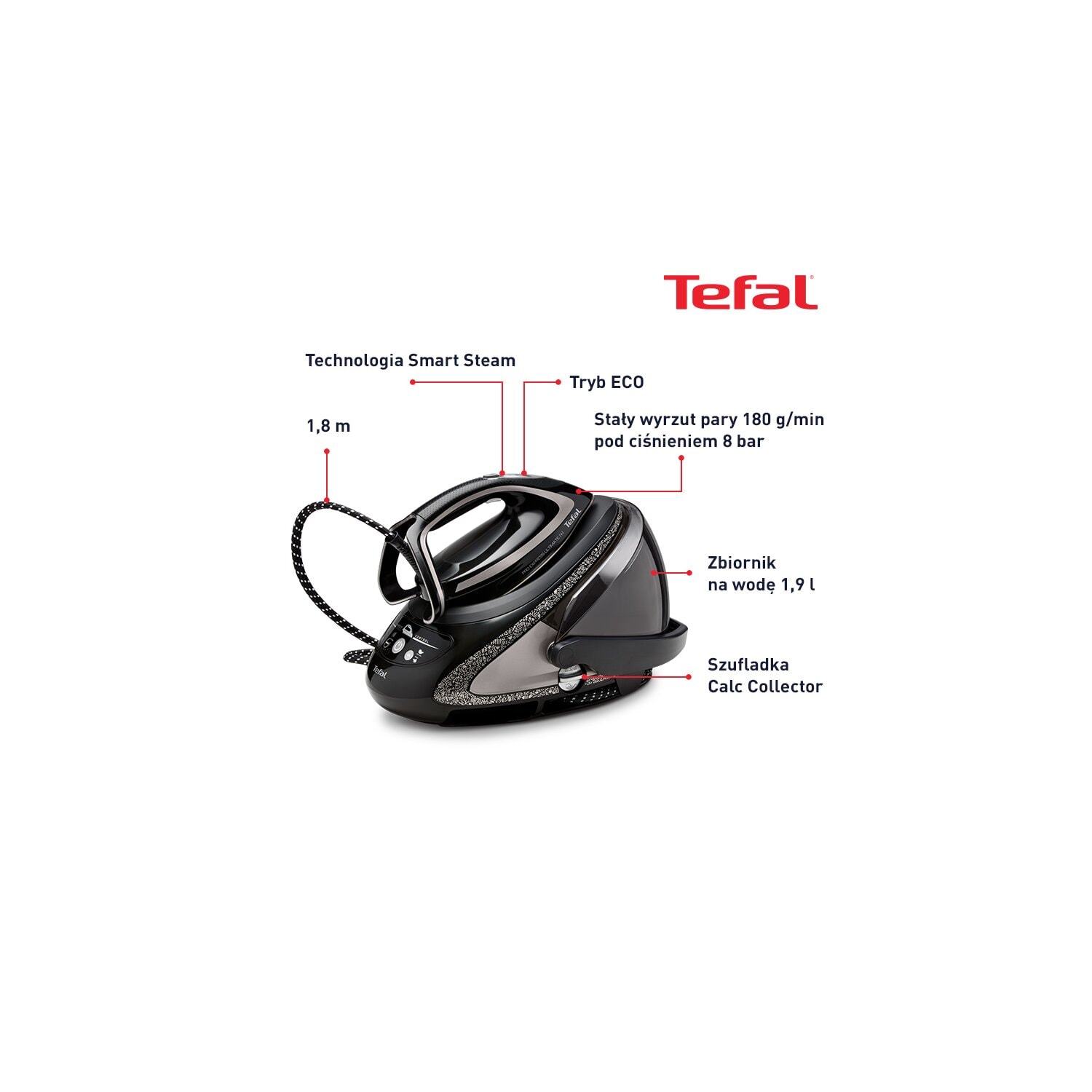 Generator pary TEFAL GV9620 Pro Express Ultimate [+] Calc Collector